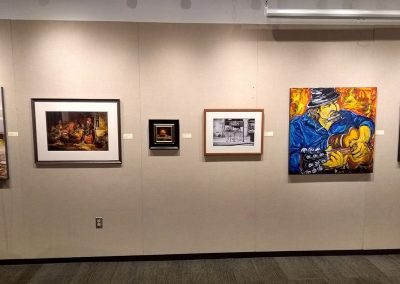 Left to right work by Laura Berman, Jeff Weekes, Brian Tyson and Dania Madera-Lerman