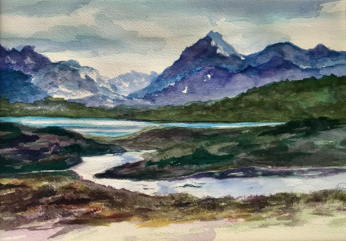 Andes Mountains by Maureen Mullally