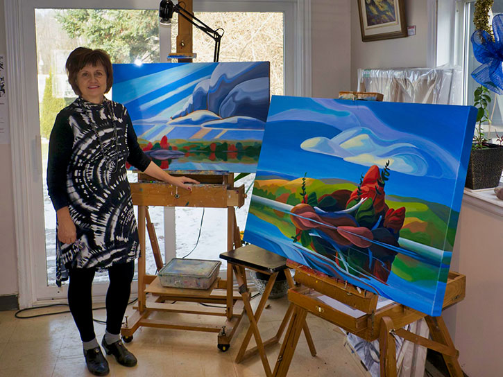 Bärbel Smith in her Studio