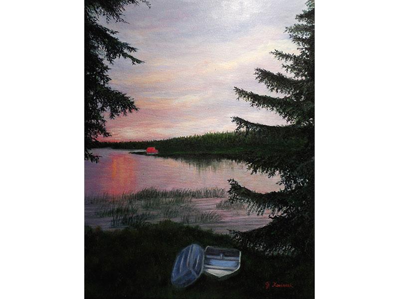 """Quebec Sunset 14""""x18"""" by Josie Korimsek"""