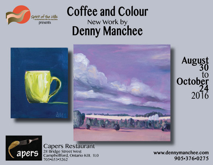 Coffee and Colour New work by Denny Manchee