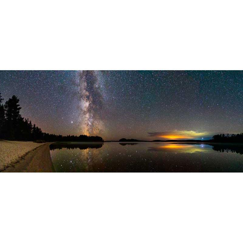 Milky Way over French Lake by Ian Davis