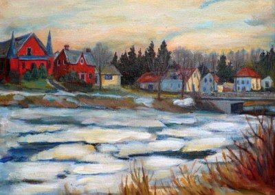 Ice On Mill Creek by Olga Szaranski