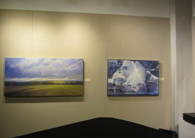 Works by Sue Wilkins on left and Elizabeth Vercoe on right.