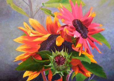 Radiant Sunflowers by Josie Korimsek