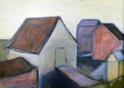 Fish Huts by Judy Hopkins