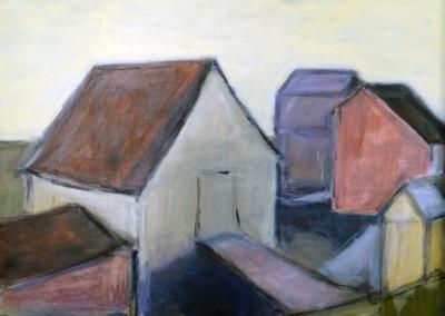 Fish Huts by Judy Hopkins