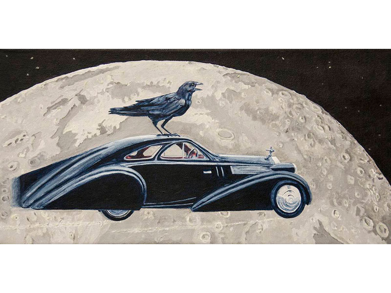 Moon Roof by Barbara Bickell 8 x 16 inches