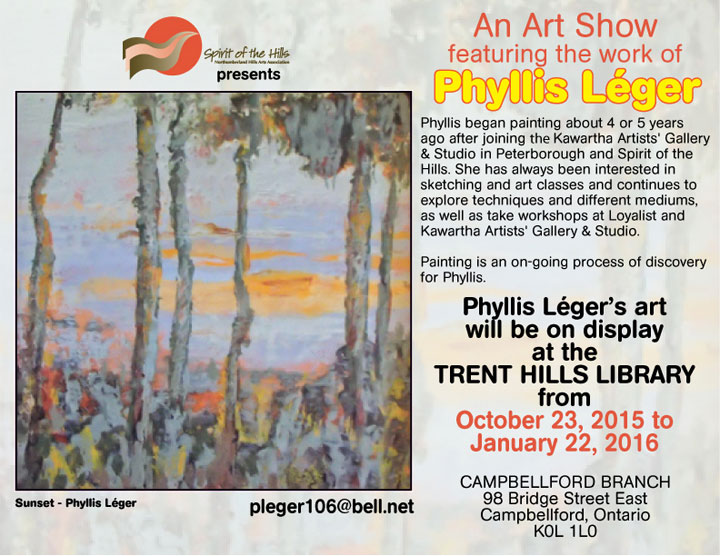 Phyllis Léger at Campbellford Library