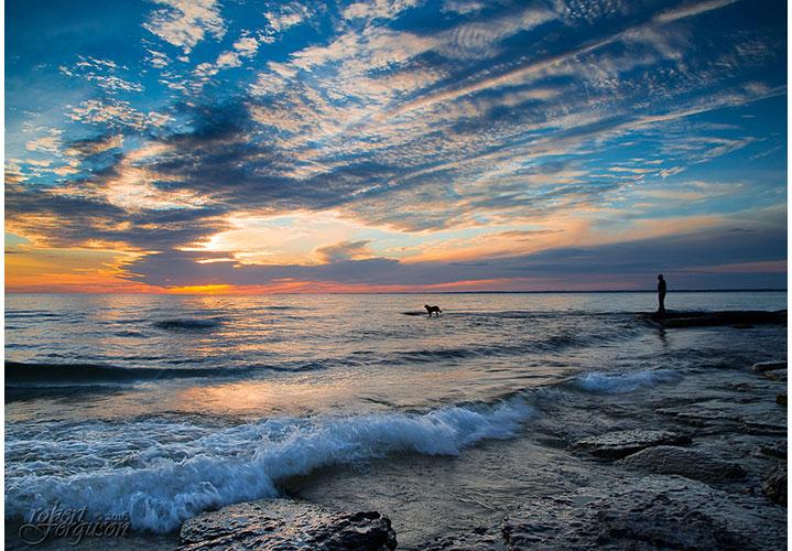 Lake Ontario Sunset by Robert Ferguson