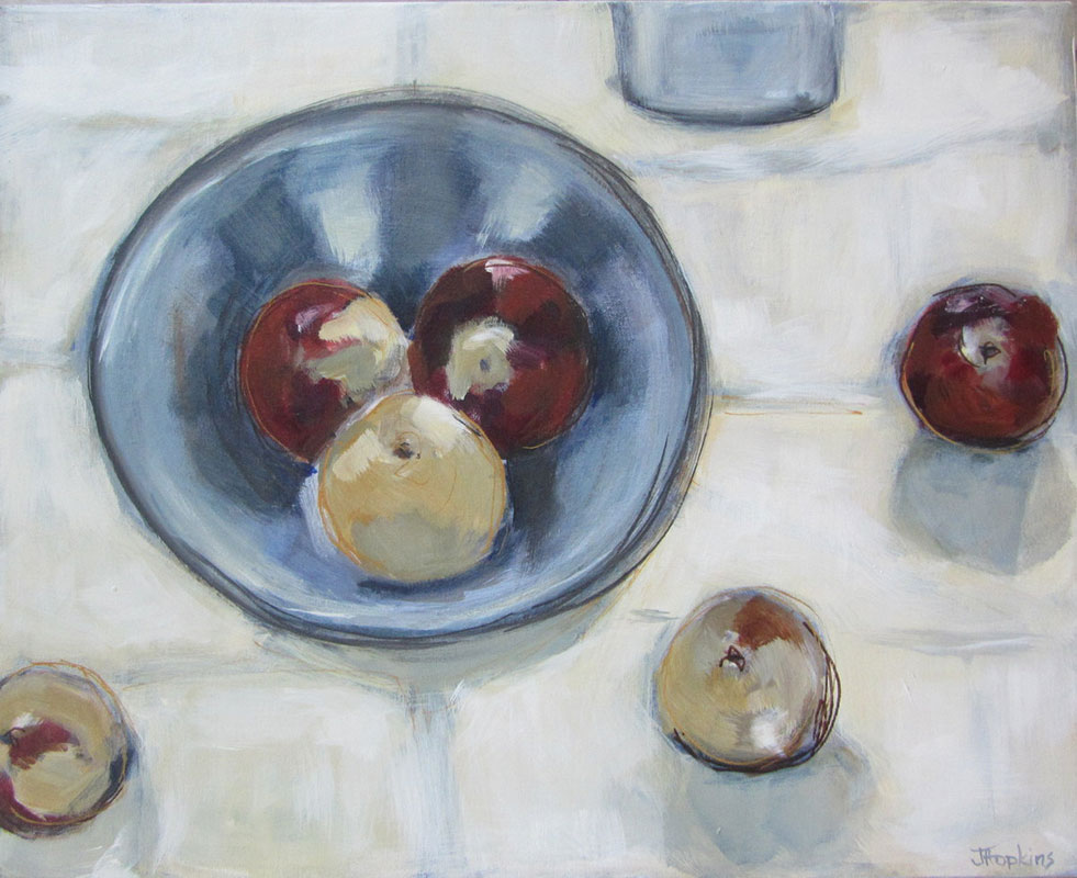 Six Apples by Judy Hopkins