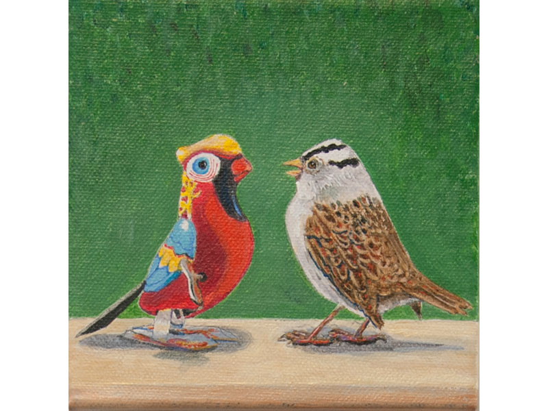 Song Contest by Barbara Bickell 6 x 6 inches