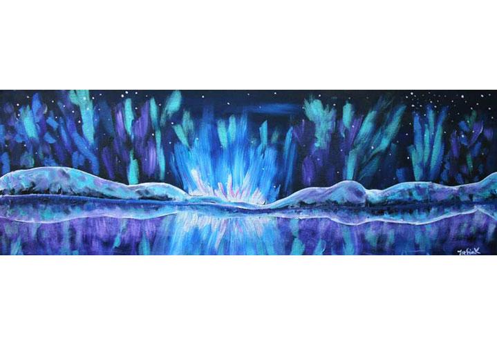 Still Lake 10x30 by Jennifer Trefiak