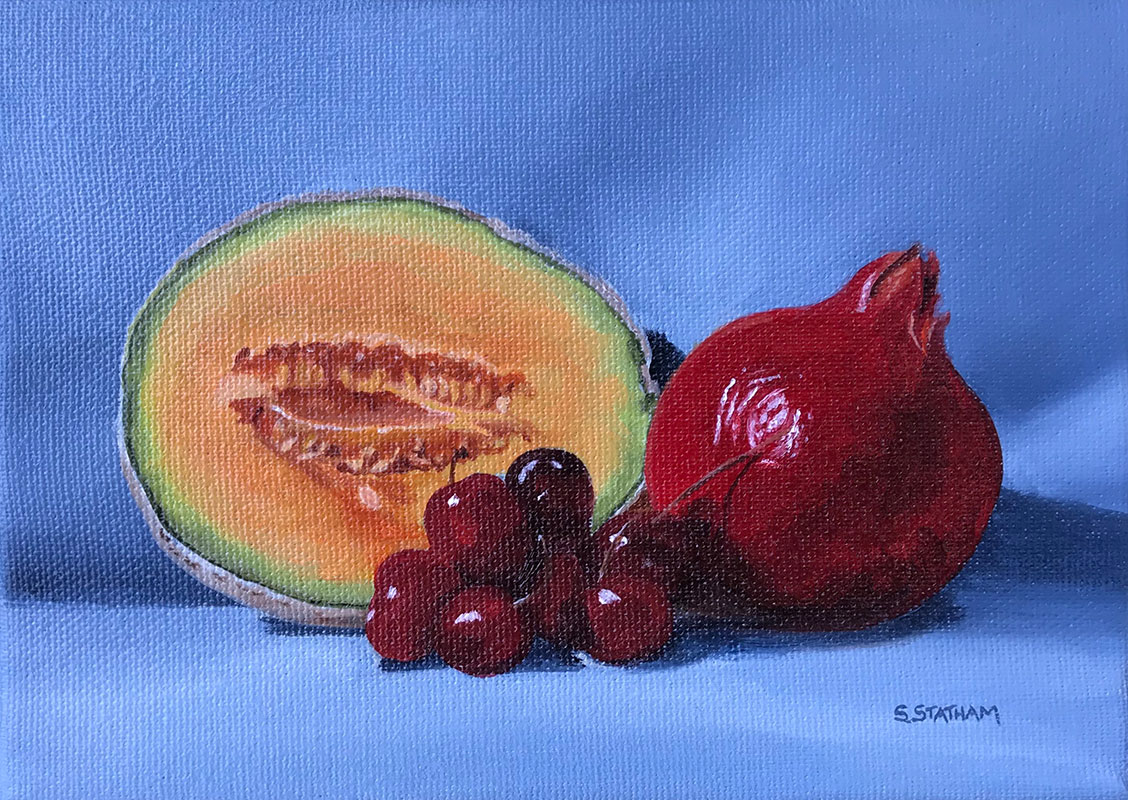 Still Life with cantaloup by Susan Statham