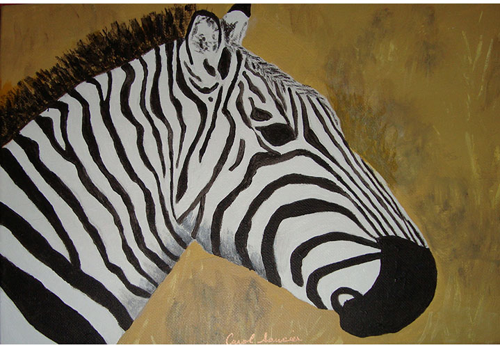 Zebra by Carol Saucier
