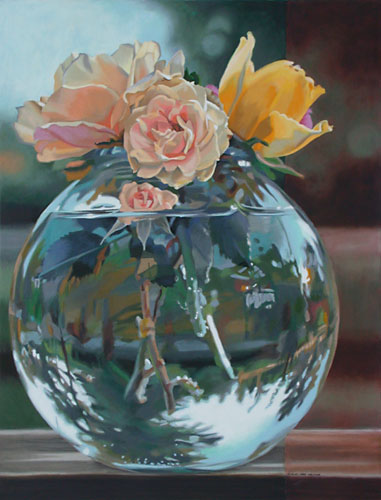 Bowl of Roses by Lenni Workman
