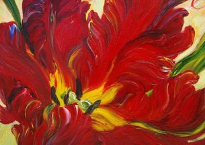 marymcewan-Open-red-tulip